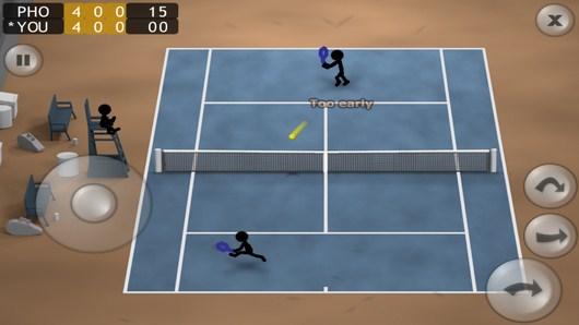 Противник отбил мяч - Stickman Tennis для Android