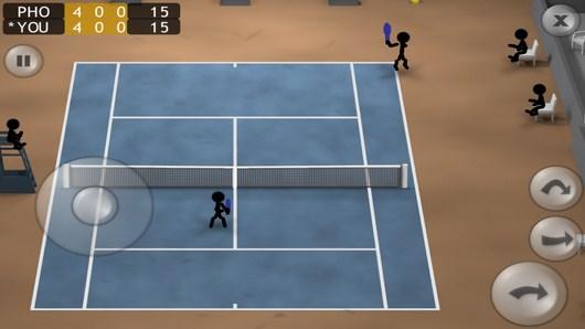Игра в самом разгаре - Stickman Tennis для Android