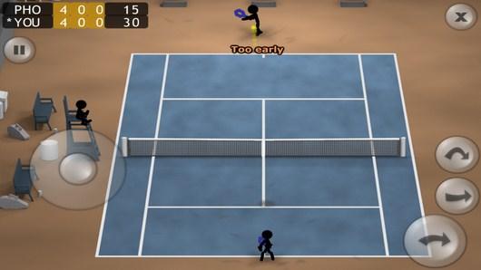 Подача соперника - Stickman Tennis для Android