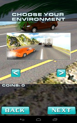 Выбор трассы для гонки - Traffic Rush для Android
