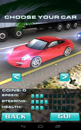 Выбираем машину - Traffic Rush для Android