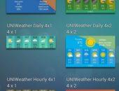 Наборы виджетов UNIWeather для Android