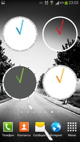 Минималистичные часы Yet Another Analog Clock Widget для Android
