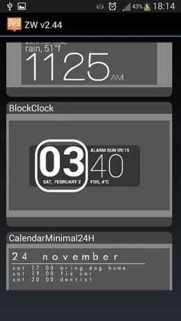 Часы для рабочего стола - Zooper Widget  для Android