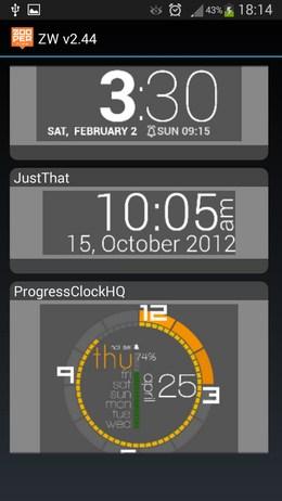 Красивые графические вижеты с часами - Zooper Widget  для Android
