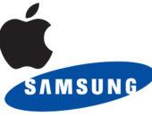 Логотипы Samsung и Apple