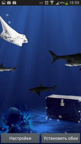 Стая акул - 3D Акулы для Android