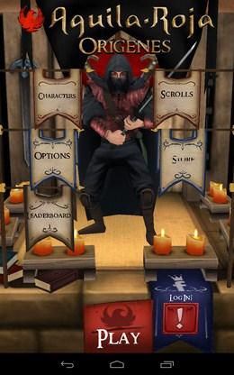 Игровое меню в Aguila Roja для Android