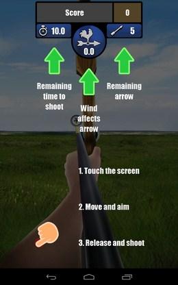 Инстукция по управлению - Archery для Android