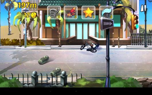Велосепедист упал - BMX Ride n Run для Android