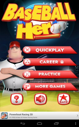 Симулятор бейсбола Baseball Hero для Android