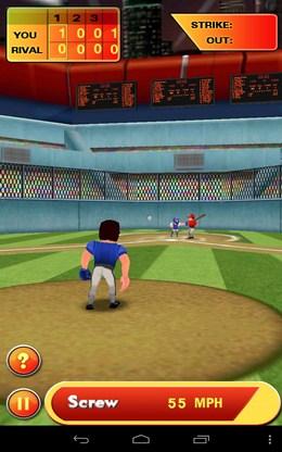 Готовимся к броску - Baseball Hero для Android