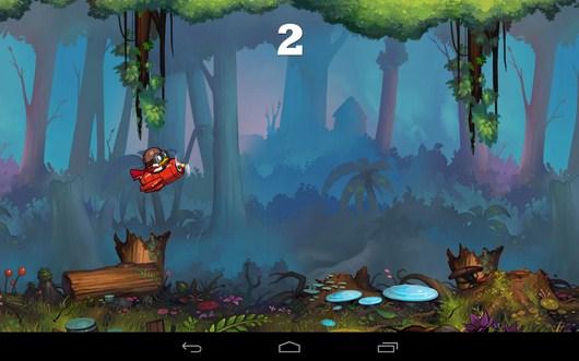 Преодолеваем препятствие - Captain Plane для Android