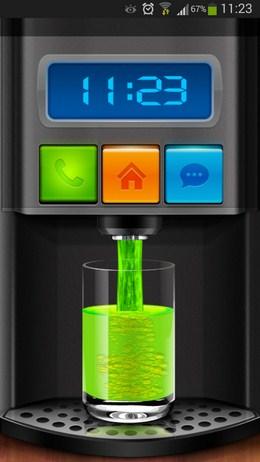 Меню блокировки в стиле автомата с газировкой - Cooee Juicer Locker для Android