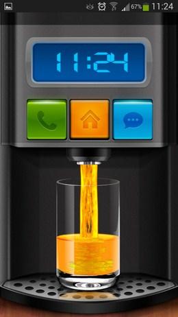 Интересное меню разблокировки - программа Cooee Juicer Locker для Android