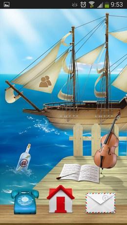 Лаунчер в морском стиле - Cooee Rye Sea для Android