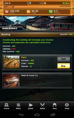 Развитие поселений - Dynasty Warlord для Android
