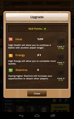 Прокачка характеристик бойца - Dynasty Warlord для Android