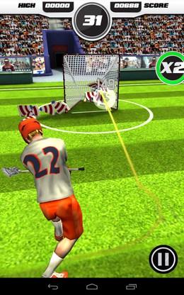 Удачное попадание в мишень - Flick Lacrosse для Android