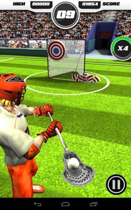 Прицеливаемся - Flick Lacrosse для Android