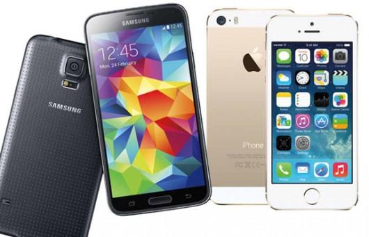 Galaxy S5 и iPhone 5s