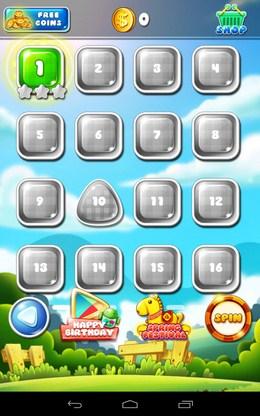 Выбор уровня Garden Mania для Android