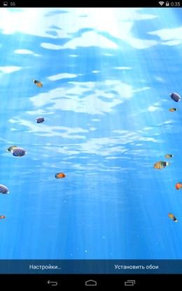 Красивые обои с океанским дном Глубины Океана 3D для Android