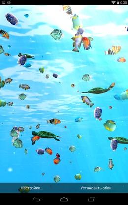 Реалистичный подводный мир - Глубины Океана 3D для Android
