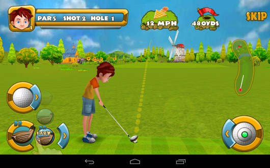 настраиваемся для удара - Golf Championship для Android