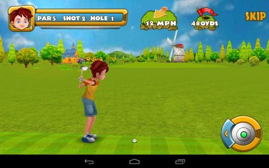 Мощная подача - Golf Championship для Android
