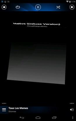 Перелистывание песни - HQPod для Android