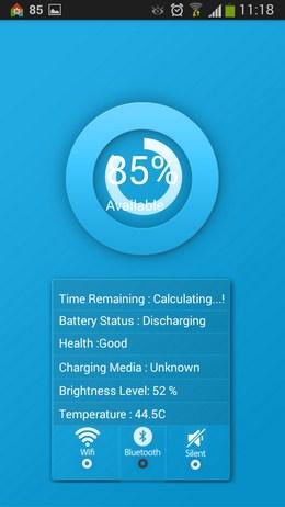 Приложение Информация: виджет батареи для Android