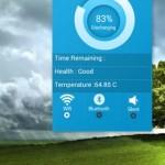 Красивый виджте Информация: виджет батареи для Android