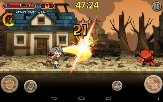 Убиваем врагов - Knights N Squires для Android