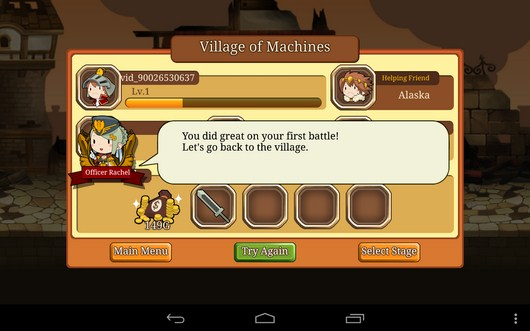 Итоги сражения - Knights N Squires для Android