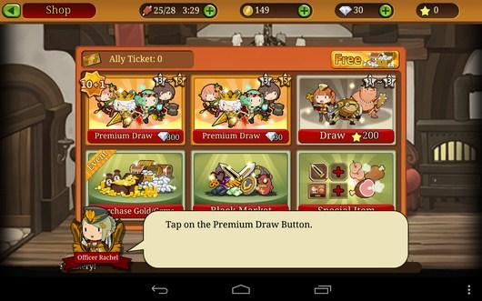 Выбор помощника - Knights N Squires для Android