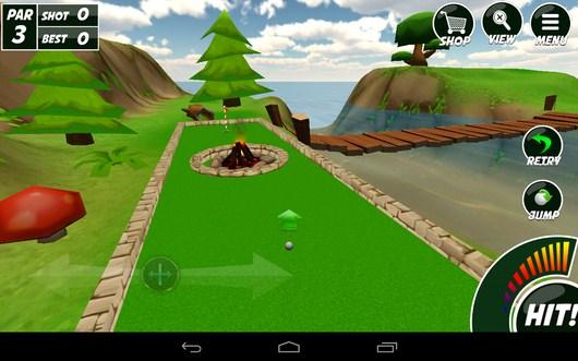Выбираем траэкторию - Mini Golf 2 для Android