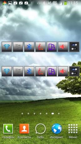 Выджеты с активными фунциями - Виджет переключатель для Android