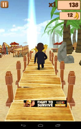 Бежим по мостику - Obama Run для Android