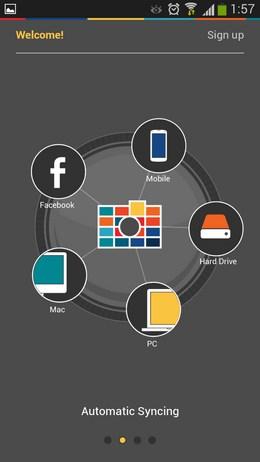 Онлайн-хранилище фотографий PhotoFeed для Android