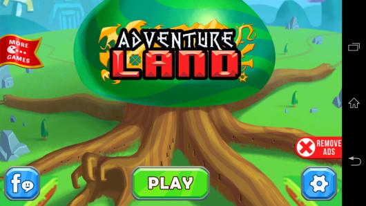 Меню - Adventure Land для Android