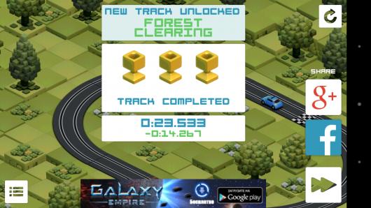 Результат - Groove Racer для Android