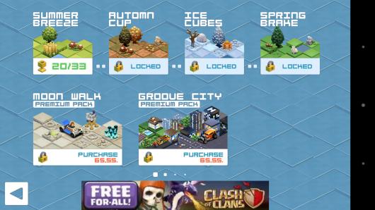 Выбор уровня - Groove Racer для Android