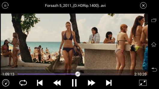 Просмотр видео - KMPlayer для Android