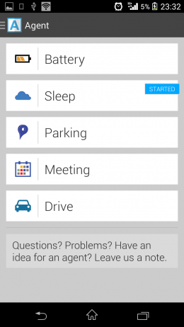 Параметры для автоматизации - Agent для Android