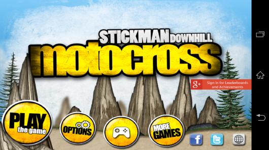 Меню - Stickman Downhill - Motocross для Android