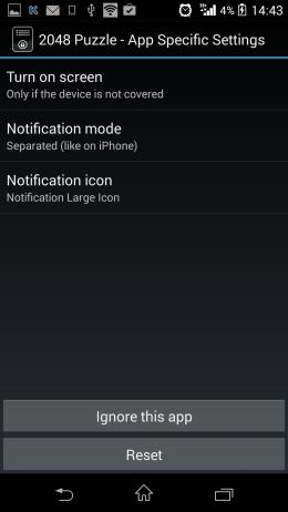 Настройки приложения - NiLS для Android