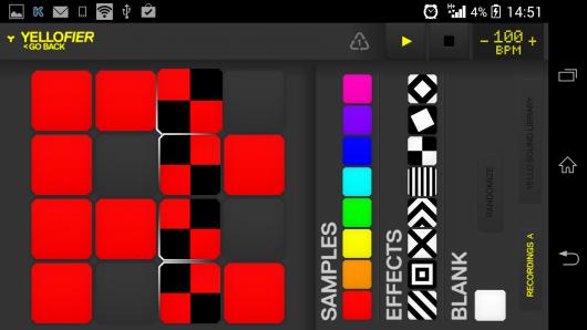 Интерфейс приложения - Yellofier для Android