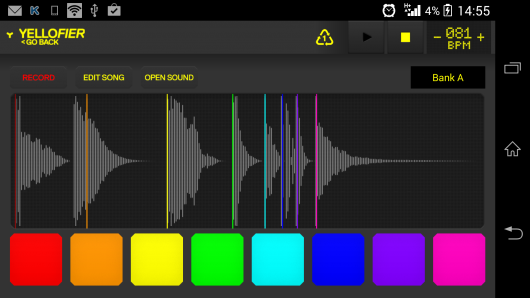 Запись звука - Yellofier для Android