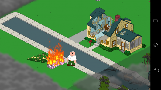 Пожар - Family Guy The Quest for Stuff для Android